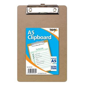 Value Tiger Stationery (A5) Masonite Clipboard