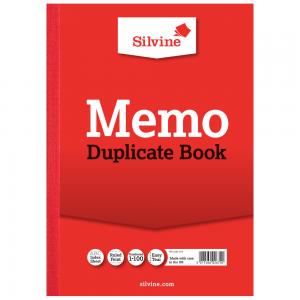 Value Silvine Duplicate Book Memo A4 Pack of 6