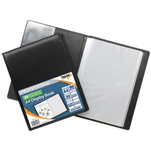 Value Tiger Professional Hard Backed (A4) Display Book 20 Pockets (Black)