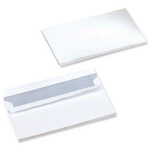Value DL (Letter Box) White Wallet 100gsm Peel & Seal Plain (1000 Pack)