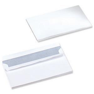 Value DL (Letter Box) White Wallet 100gsm Peel & Seal Plain (1000 Pack)