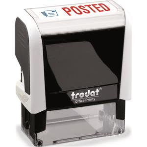 Value Trodat Printy 4912 (46mm x 18mm) Self-Inking Word Stamp (Red/Blue) 'Posted
