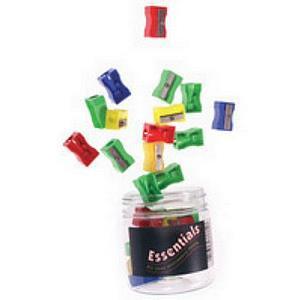 Value Plastic Pencil Sharpener Assorted Colours
