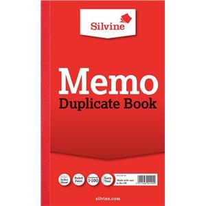 """Value Silvine Duplicate Book Memo 216mmx130mm (8""""x5"""") Pack of 6"""