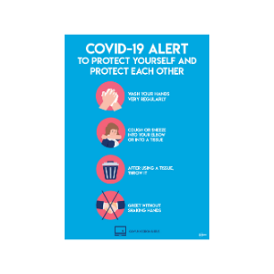 Value Twin Pack Avery COVID-19 Alert A4 Sticker 297x210