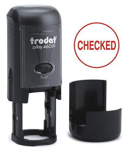 Value Trodat Printy 46019 Word Stamp Self Inking Re-inkable Red 19mm