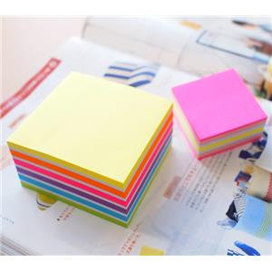 Value Stick'N 76 x 76mm Neon and Pastel Sticky Notes Neon Cube
