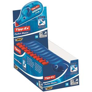 Value Tipp-Ex Pocket Mouse Correction Tape Roll (Pack of 10)