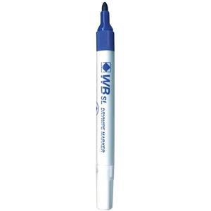 Value Whiteboard Slimline Drywipe Marker Fine Bullet Tip Blue (Pack 10)