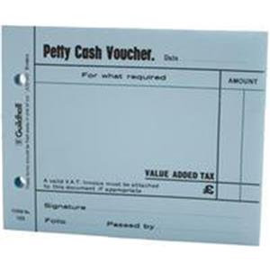Value Guildhall Petty Cash Voucher Pad 100 Leaves (Blue) Pack of 5