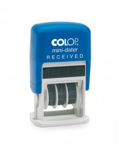 Value Colop S160-L1 Mini Text Dater Stamp RECEIVED 12 Years Self-Inking Imprint