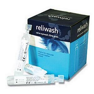 Value Reliance Medical Reliwash Saline Eyewash Pods (25 x 20ml)