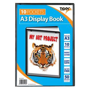 Value Tiger Presentation (A3) Display Book 20 Pockets (Black)
