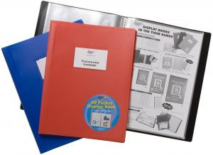 Value A4 40 Pocket Soft Cover Display Book Assorted Colours