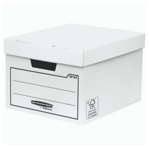 Value Storage Box white W32 x H25 x D39cm (Pack of 10)