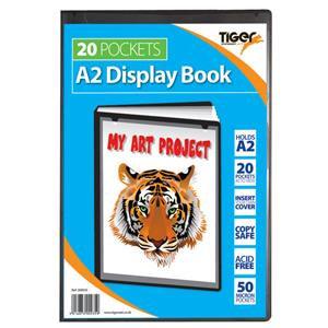 ValueTiger Presentation (A2) Display Book 20 Pockets (Black)