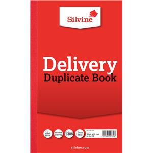 "Value Silvine Duplicate Book Delivery 216mmx130mm (8""x5"") Pack of 6"