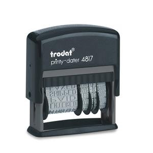Value Trodat Printy 4817 Dial-A-Phrase Self-inking Dater Stamp (Black)