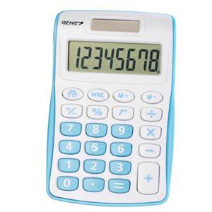Value Genie 120B Compact Pocket Calculator 8 Digit Display (Blue)