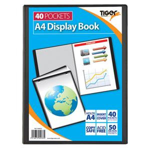 Value Tiger Stationery Presentation (A4) Display Book 40 Pockets (Black)