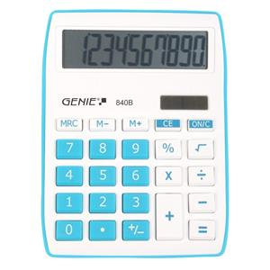 Value Genie 840B Desktop Calculator (Blue)