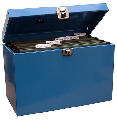 Value A4 Metal File Box with 5 Suspension Files (Blue)​​​​​​