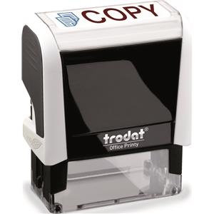 Value Trodat Printy 4912 (46mm x 18mm) Self-Inking Word Stamp (Red/Blue) 'Copy'