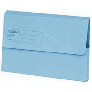 Value Exaclair Guildhall Document Wallets Blue (Pack of 50)