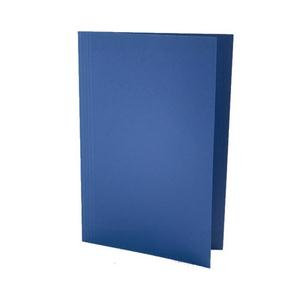 Value Lightweight Square Cut Folder Foolscap Blue (Pack of 100)