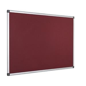 Value Bi-Office Maya Felt Notice Board Aluminium Frame 900 x 600mm Burgundy