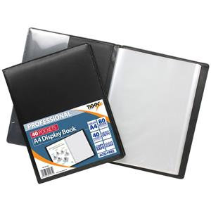 Value Tiger Professional Hard Backed (A4) Display Book 40 Pockets (Black