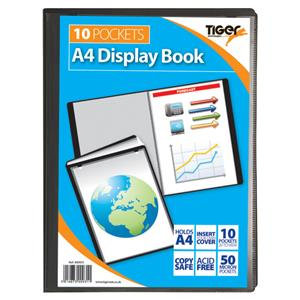 Value Tiger Stationery Presentation (A4) Display Book 10 Pockets (Black)