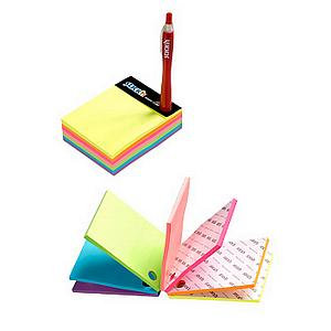 Value Stick'N Repositionable Notes Magic Cube (101x76mm) 280 Sheets Neon