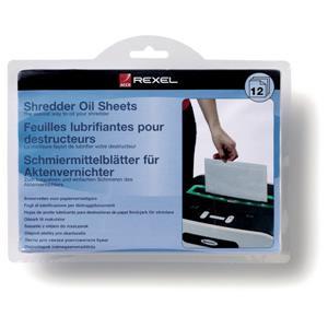 Value Rexel Shredder Oil Sheets (12 Pack)