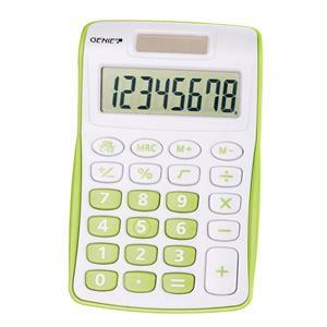 Value Genie 120B Compact Pocket Calculator 8 Digit Display (Green)