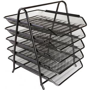 Value Mesh Front Load 5-Tier Letter Tray (Graphite)