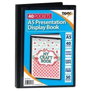 Value Tiger Stationery Presentation (A5) Display Book 40 Pockets