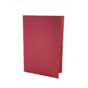 Value Lightweight Square Cut Folder Foolscap Red (Pack of 100)