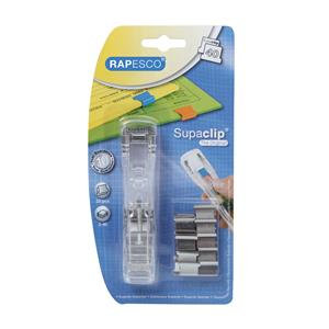 Value Rapesco Supaclip 40 Dispenser with 25 Clips (Stainless Steel) for 40 Sheet