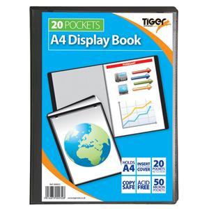 Value Tiger Stationery Presentation (A4) Display Book 20 Pockets (Black)