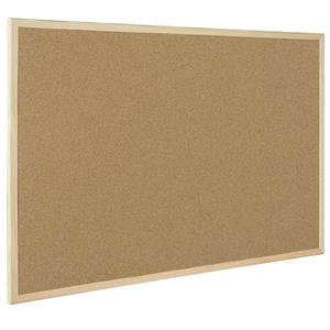 Value Bi-Office (400 x 300mm) Cork Notice Board Pine Frame (Natural)