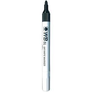 Value Whiteboard Slimline Drywipe Marker Fine Bullet Tip Black (Pack 10)