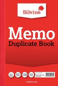 """Value Silvine Duplicate Book Memo 152mmx102mm (8""""x5"""") Pack of 12"""