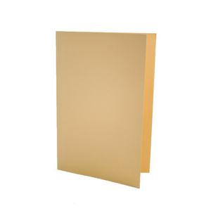 Value Lightweight Square Cut Folder Foolscap Yellow (Pack of 100)