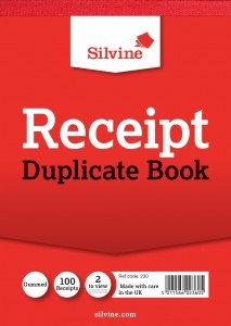 """Value Silvine 105mmx148mm(4"""" x 5.25"""")Duplicate Receipt Book (Pack 12)"""