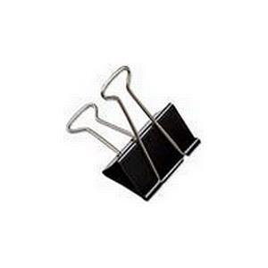 Value Essentials (25mm) Foldback Clips (Black) Pack of 10