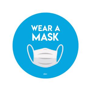Twin Pack Avery COVID-19 Wear a Mask Circular Sticker 275mm