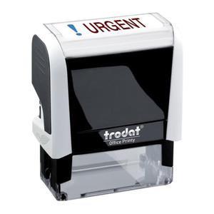 Value Trodat Printy 4912 (46mm x 18mm) Self-Inking Word Stamp (Red/Blue) 'Urgent