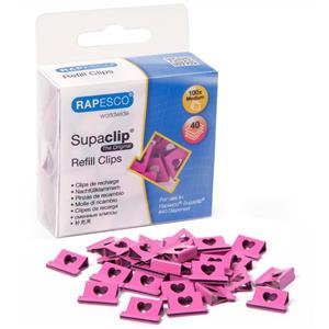 Value Rapesco Supaclip 40 Hearts Refill Clips (Box of 100) for Rapesco Supaclip