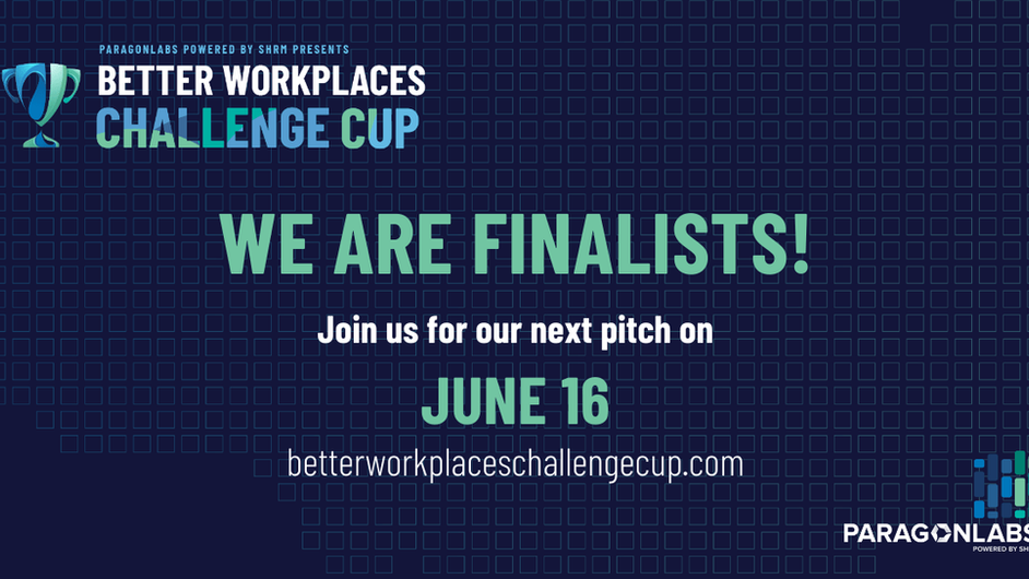 MeBeBot selected as finalist in Better Workplaces Challenge Cup (Paragon Labs powered by SHRM)